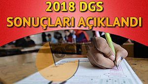 2018 Dgs Sınavı acıkladı