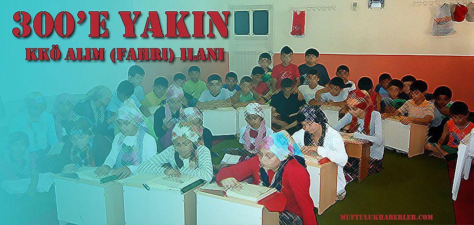 300 e yakın Kuran Kursu Öğreticisi Alım ilanı yayınlandı.