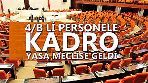 Sözleşmeli personel için yasa teklifi mecliste