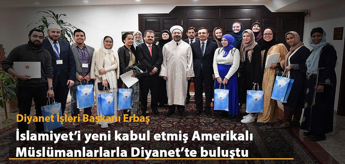 İslamiyet'i yeni kabul etmiş Amerikalı Müslümanlardan Diyanet'e ziyaret