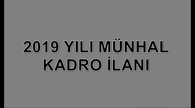 2019 Münhal Kadro İlanı