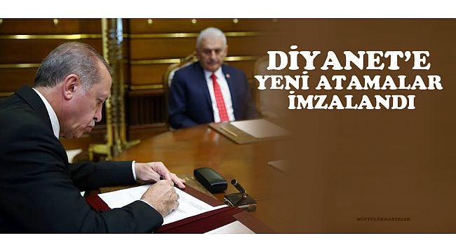 Diyanet'te yeni atamaları Cumhurbaşkanı imzaladı. işte yeni atamalar