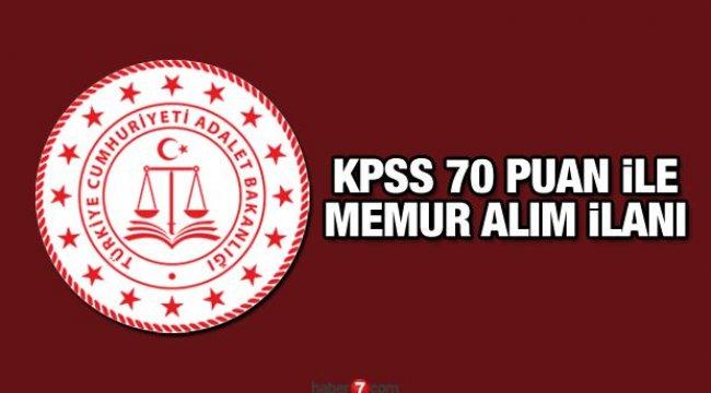 Adalet Bakanlığı KPSS 70 puan ile memur alım ilanı! Başvurular ne zaman bitiyor?