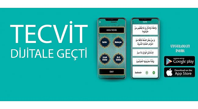 KOCA TECVİD Google Play ve App Store'de