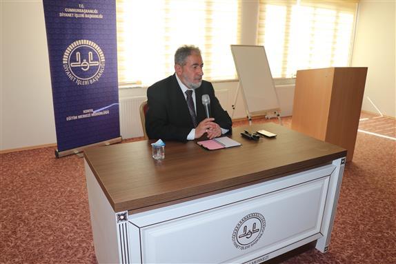 Konya Eğitim Merkezi Ahmet özkan'dan Konferans