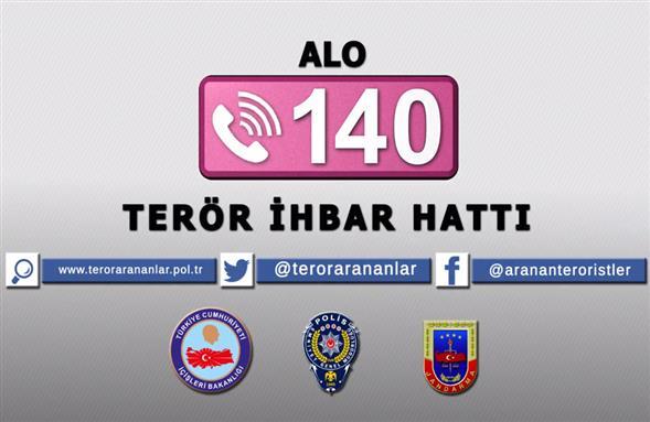 Alo 140 terör ihbar hattı