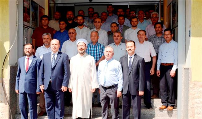 Denizlide Diyanet işleri başkanı prof. dr. Ali Erbaş, il müftülüğünü ziyaret etti