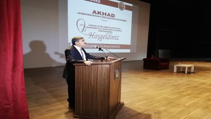 Şanlıurfa Eğitim Merkezi Müdürümüz Adıyaman'da Konferans Verdi.