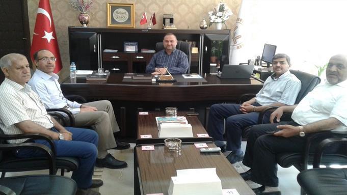 Sanliurfa Eğitim Merkezi müdürümüz dr.ahmet gündüz adıyaman müftüsü'nü makamında ziyaret etti.
