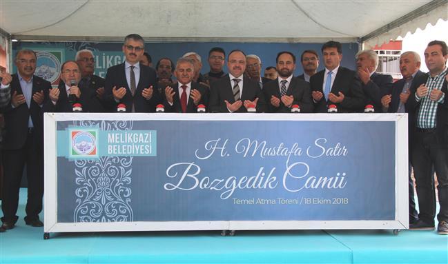 """Kayseri Müftülüğü """"h. Mustafa Satır- Bozgedik Camii'nin"""" Temeli Atıldı"""