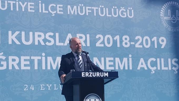 Erzurum Müftülüğü Kur'an Kursları 2018-2019 Eğitim Ve öğretim Yılına Düzenlenen Programla Başladı.