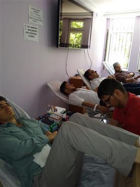 Elazig Eğitim Merkezi müdürlüğümüz personeli ve kursiyerlerimizin kan bağışı
