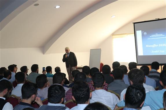 Konya Eğitim Merkezinde Muzaffer Dereli'den Konferans