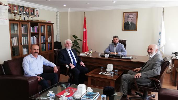 Van Il Müftüsü Nimetullah Arvas'i Elazığ Eğitim Merkezi Müdürlüğümüzü Ziyaret Etti.