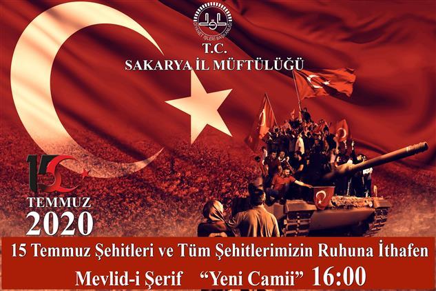 Sakarya'de 15 Temmuz şehitleri Programı