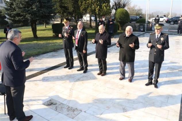 Duzce'de 18 Mart şehitleri Anma Günü Ve çanakkale Deniz Zaferinin 105. Yıl Dönümü Anma Töreni