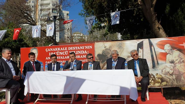 Antalya'da 18 Martta şehitlerimizi Andık