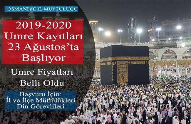 Osmaniye'de 2019-2020 Umre Kayıtları 23 Ağustos'ta Başlıyor