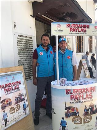 Kirklareli'de 2019 Vekaletle Kurban Organizyonu Kapsamında Il Geneli Ve Ilçelerimizde Standlar Hizmet Için Açılmıştır.