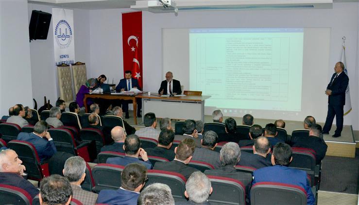 Konya'da 2019 Yılı Eylem Planı Ve Istişare Toplantısı Yapıldı