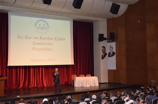 Malatya'da 2019 Yılı Yaz Kur'an Kursu Eğitim Semineri