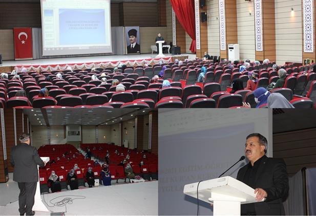 """Erzincan'da 2020-2021 Dönemi Kur'an Kursları """"uygulama Esasları"""" Istişare Toplantısı Düzenlendi"""