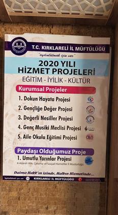 Kirklareli'de 2020 Yılı Hizmet Projeleri Için Afişler Görücüye çıktı