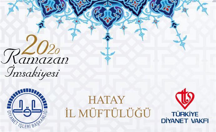 Hatay'da 2020 Yılı Ramazan Imsakiyesi