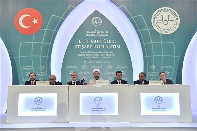 """Ankara """"35. Il Müftüleri Istişare Toplantısı"""" Sonuç Bildirgesiyle Sona Erdi"""