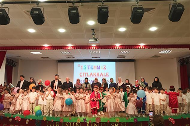 Giresun'da 4-6 Yaş Grubu Kur'an Kursu öğrencilerinden Yıl Sonu Etkinlikleri