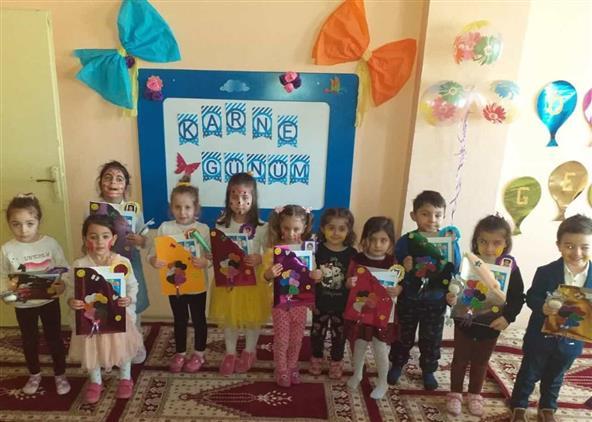 Ardahan'da 4-6 Yaş Kur'an Kurslarımızda Karne Heyecanı