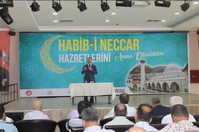 """Hatay'da 7. Habib-i Neccar Hazretlerini Anma Etkinlikleri"""" Kapsamında Hatmek'de Konferans Programı Düzenlendi"""