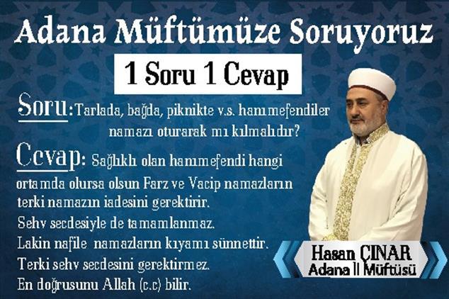"""Adana Müftümüze Soruyoruz """"1 Soru 1 Cevap"""""""