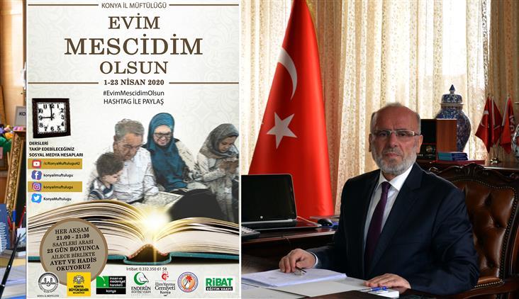 """Konya'da Adrb'den """"evim Mescidim Olsun"""" Projesi"""