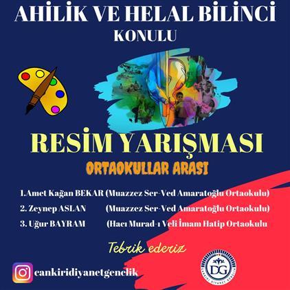 """Nevşehir'de """"ahilik Ve Helal Bilinci"""" Temalı Resim Yarışması Düzenlendi..."""