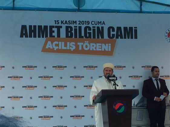 Antalya'da Ahmet Bilgin Camiinin Açılışı Dualarla Yapıldı