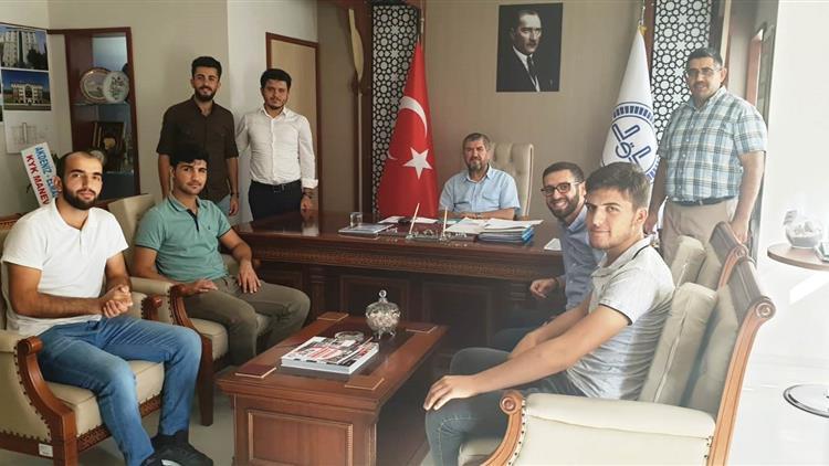 Antalya'da Ahmet Hamdi Akseki öğrenci Yurdu öğrencilerinden Il Müftülüğümüze Ziyaret