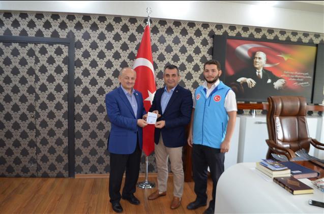 Malatya'da Ak Parti Il Başkanı Ihsan Koca'dan Türkiye Diyanet Vakfına Kurban Bağışı