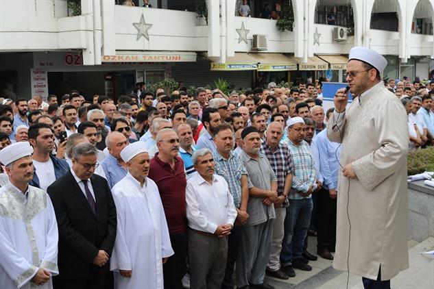 Mersin'de Akdeniz Ulu Camiinde Mısır'ın Seçilmiş Ilk Cumhurbaşkanı Muhammed Mursi Için Gıyabi Cenaze Namazı Kılındı