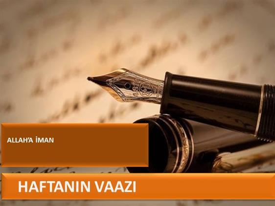 Cankiri'da Allah'a Iman