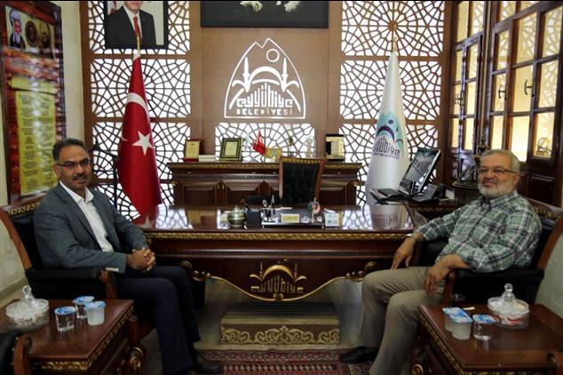 Şanlıurfa'da şanlıurfa Il Müftüsü Taştan 'dan Eyyübiye Belediyesine Ziyaret