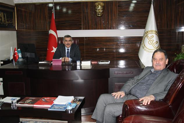 Duzce'de Başkanlık Müftüsü Selami Egemen'den Nezaket Ziyareti.