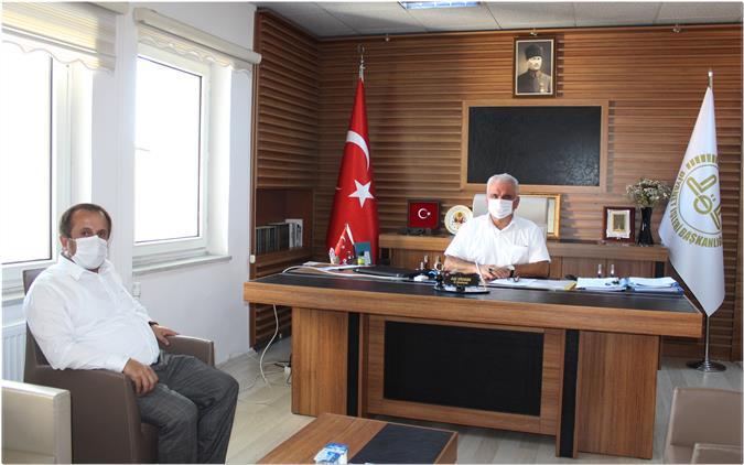 Bilecik'de Bilecik Ticaret Ve Sanayi Odası Başkanı şükrü Keskin'den Müftü Ali Erhun'a Ziyaret
