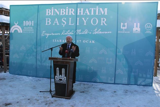 Erzurum'da Binbir Hatim Başladı.