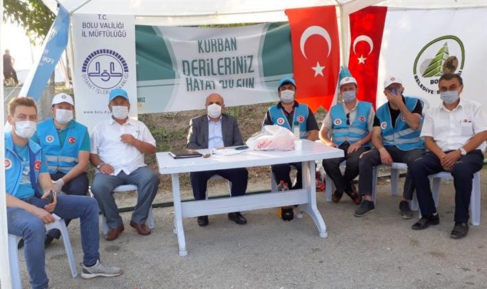 Bolu Il Müftüsü Orhan Genç Kurban Bayramında Merkez Mezbahanede Görevlendirilen Personeli Ziyaret Etti.