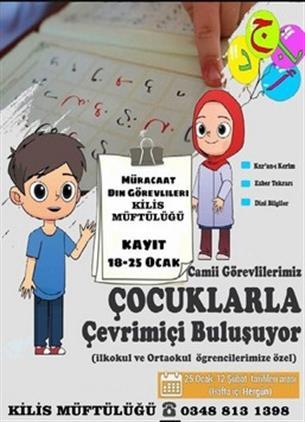 Nevşehir'de Cami Görevlileri çocuklarla çevrimiçi Buluşuyor