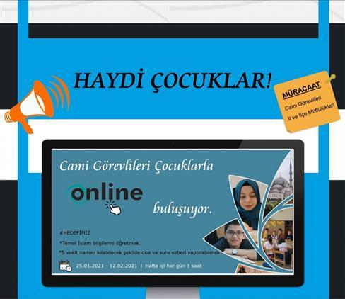 Karabük'te Cami Görevlileri Ve çocuklarımız çevrimiçi Buluşuyor