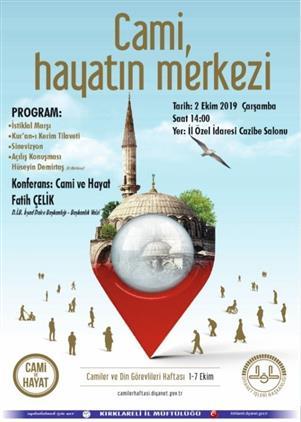 Kirklareli'de Camiler Ve Din Görevlileri Haftası Başlıyor.