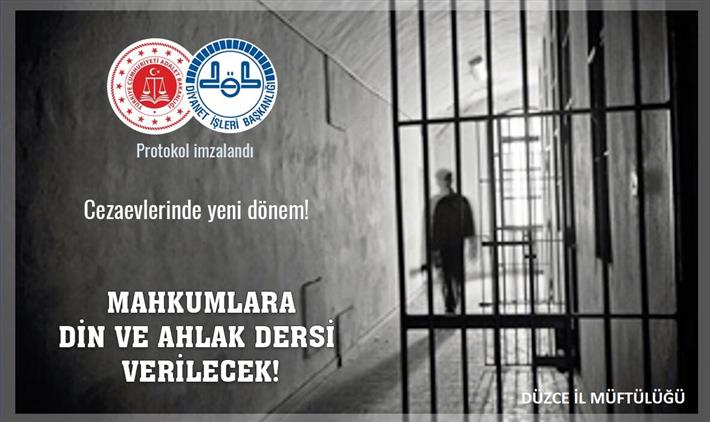 Duzce'de Cezaevlerinde Yeni Dönem! Mahkumlara Din Ve Ahlak Dersi Verilecek.