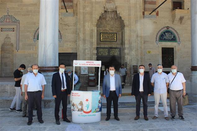 Amasya'da Covıd-19 Aşı Randevu Ve Bilgilendirme Standı Kuruldu